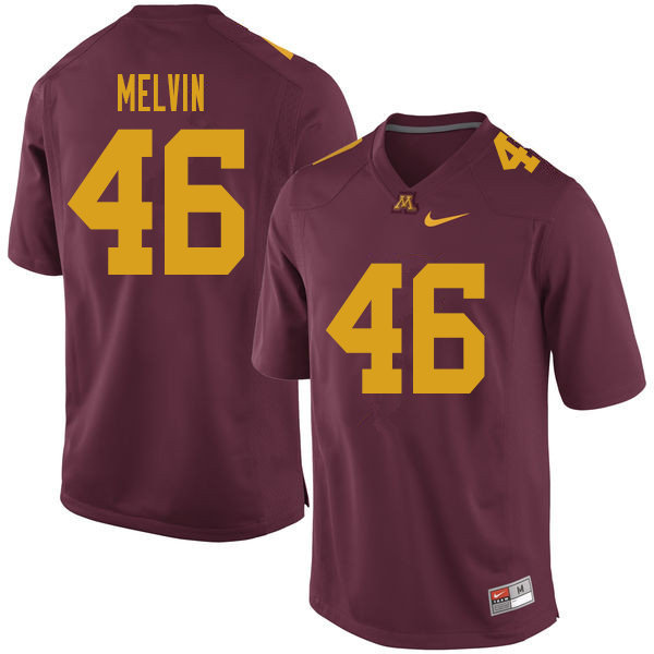 Men #46 Alex Melvin Minnesota Golden Gophers College Football Jerseys Sale-Maroon