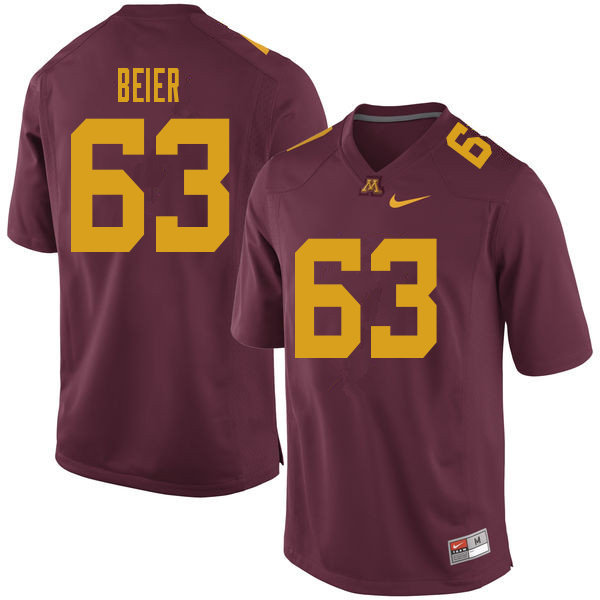 Men #63 Austin Beier Minnesota Golden Gophers College Football Jerseys Sale-Maroon