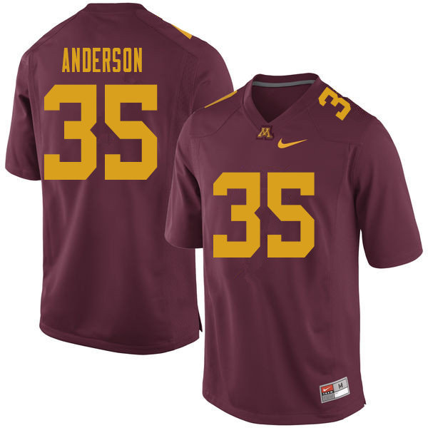 Men #35 Danny Anderson Minnesota Golden Gophers College Football Jerseys Sale-Maroon