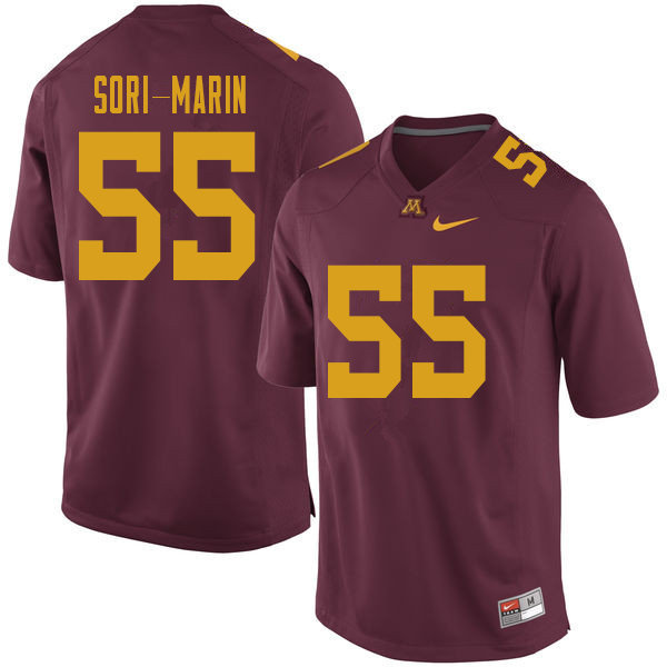 Men #55 Mariano Sori-Marin Minnesota Golden Gophers College Football Jerseys Sale-Maroon