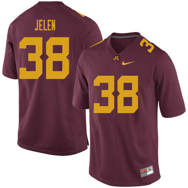 Men #38 Preston Jelen Minnesota Golden Gophers College Football Jerseys Sale-Maroon