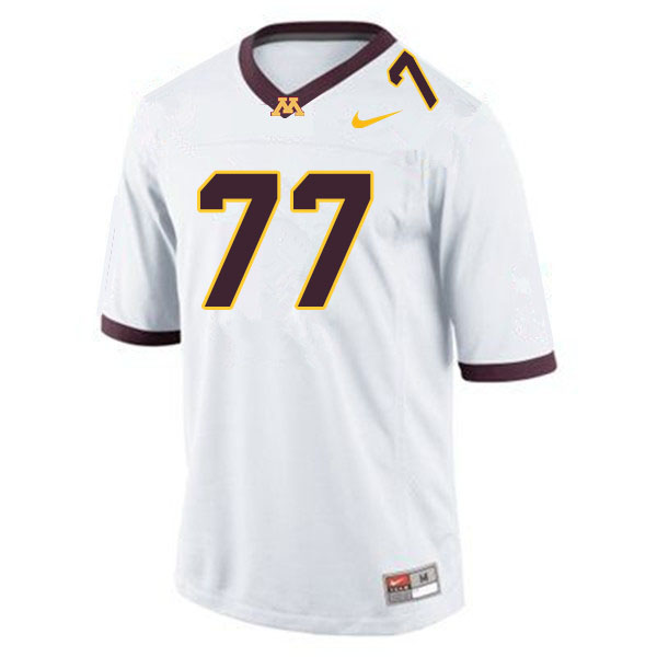Men #77 Blaise Andries Minnesota Golden Gophers College Football Jerseys Sale-White