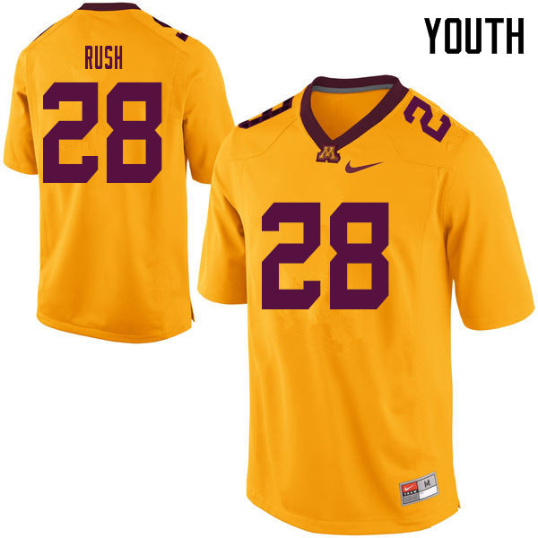 Youth #28 Thomas Rush Minnesota Golden Gophers College Football Jerseys Sale-Yellow