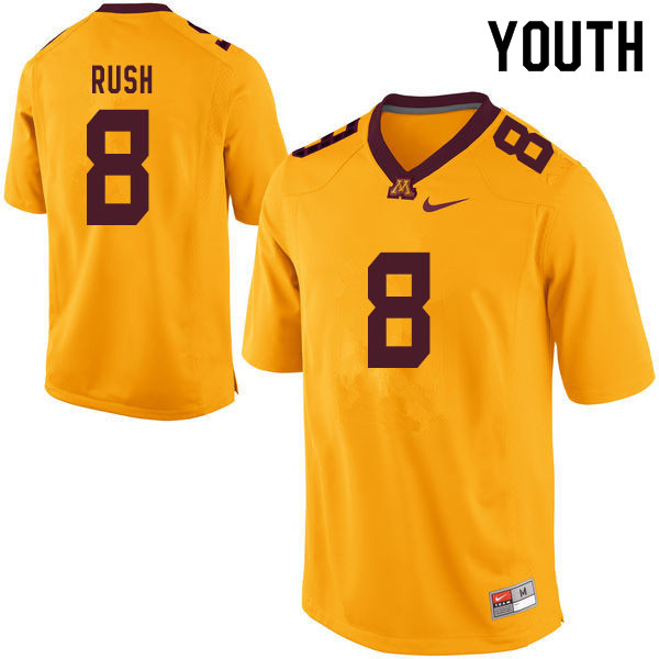 Youth #8 Thomas Rush Minnesota Golden Gophers College Football Jerseys Sale-Yellow