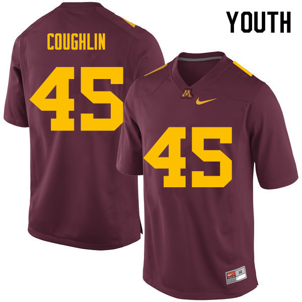 Youth #45 Carter Coughlin Minnesota Golden Gophers College Football Jerseys Sale-Maroon