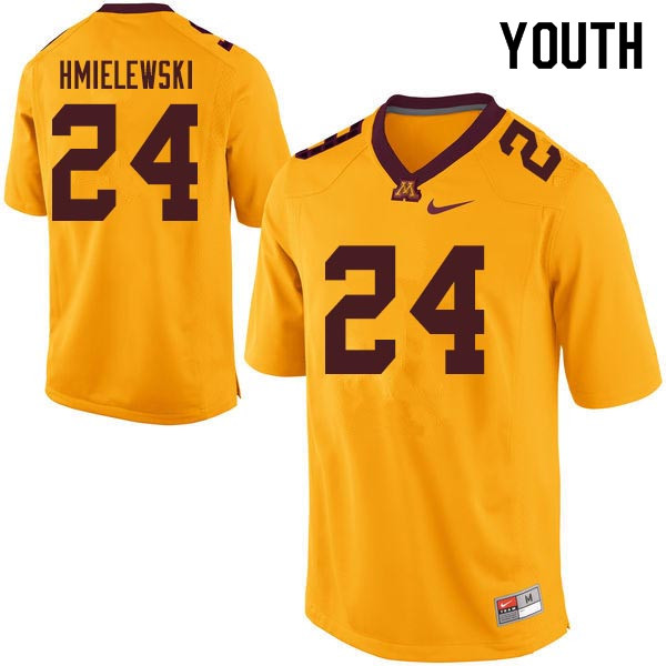Youth #24 Drew Hmielewski Minnesota Golden Gophers College Football Jerseys Sale-Gold