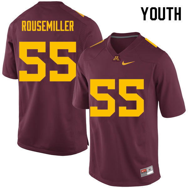 Youth #55 Eric Rousemiller Minnesota Golden Gophers College Football Jerseys Sale-Maroon
