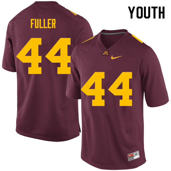 Youth #44 Tommy Fuller Minnesota Golden Gophers College Football Jerseys Sale-Maroon